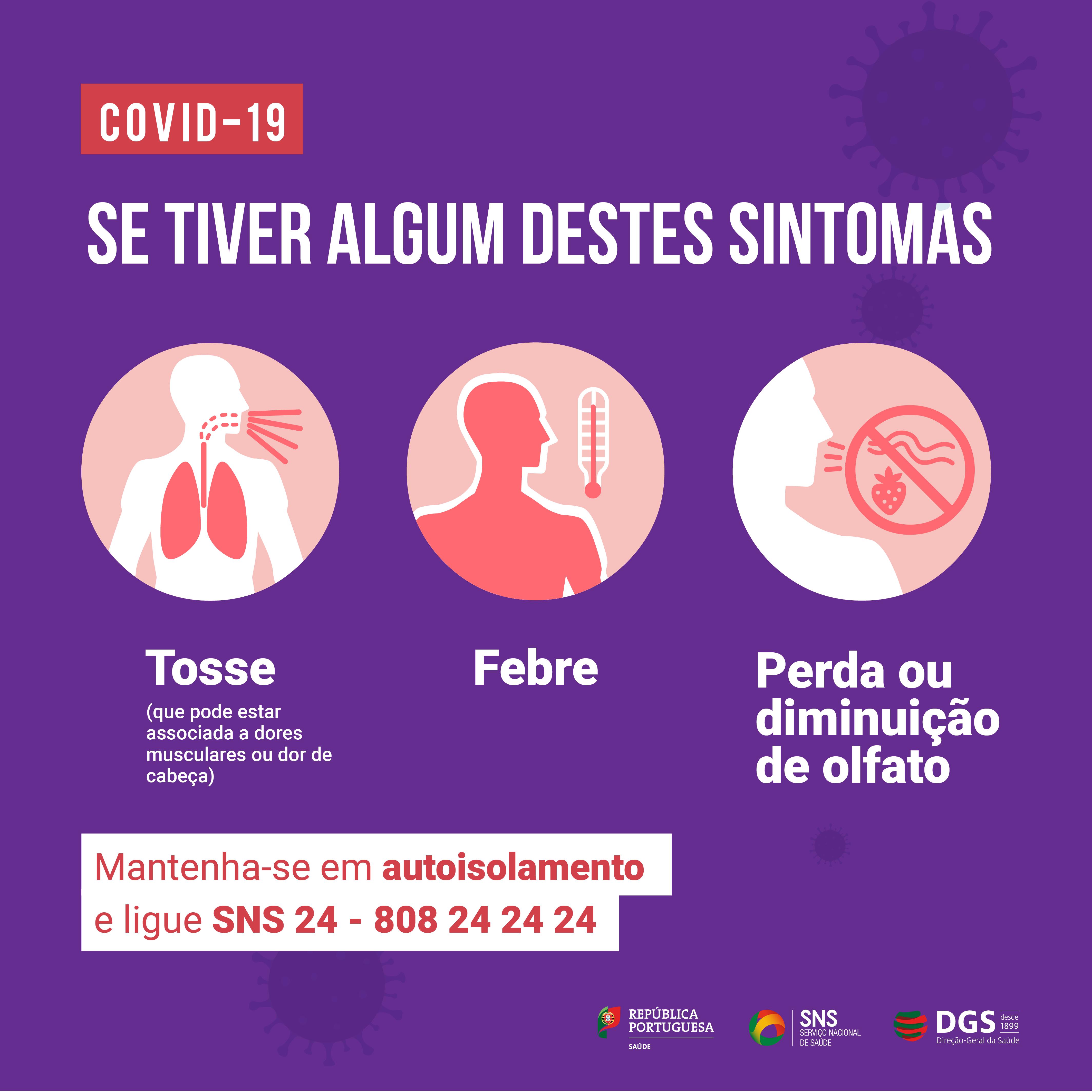 COVID 19 - Tenha atenção aos sintomas